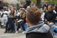 100 Trommeln feiern 100 Jahre Waldorf - Drum Circle auf dem Augsburger Königsplatz 16.05.2019 - Foto: Hans Hahn