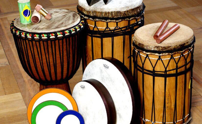 Zwei Drum Circles beim liesLotte Kinderfestival im Reese Theater Augsburg
