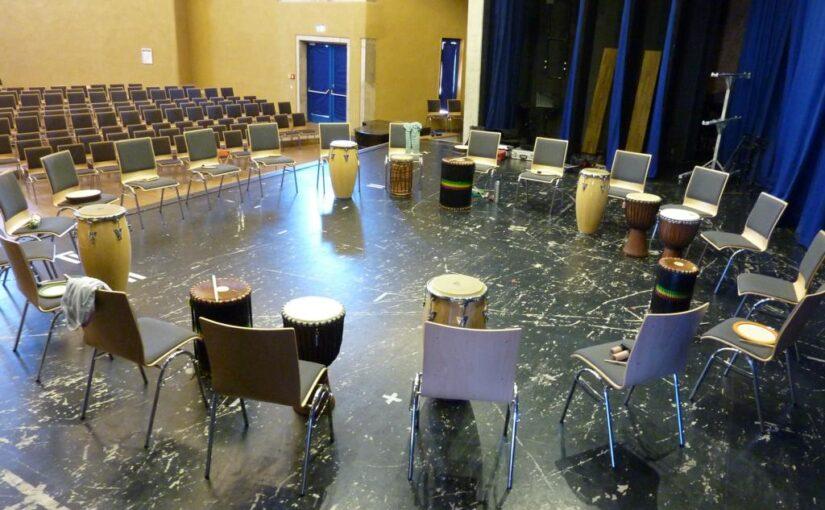 Drum Circle Workshop an der Freien Waldorfschule Augsburg
